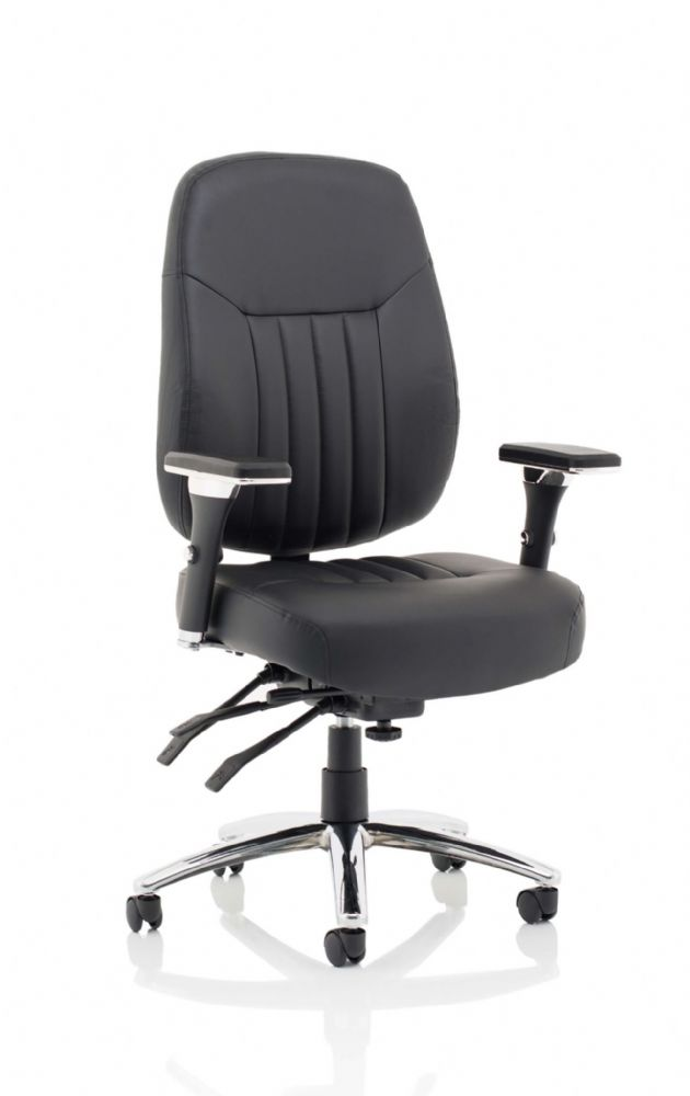 Barcelona Deluxe Bonded Leather High Back Directors Chair. Height Adjustable Arms